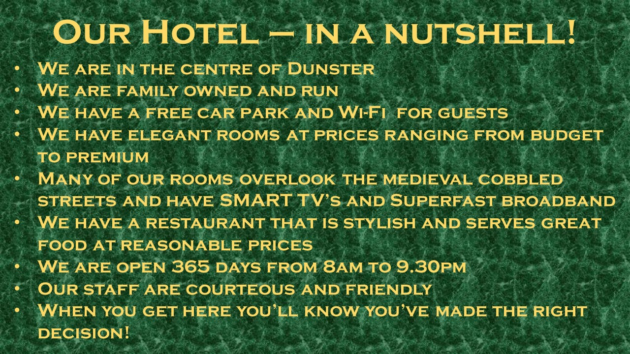 Discount Hotel Rooms in Dunster